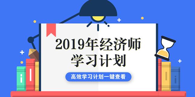 2019年经济师全年学习备考计划